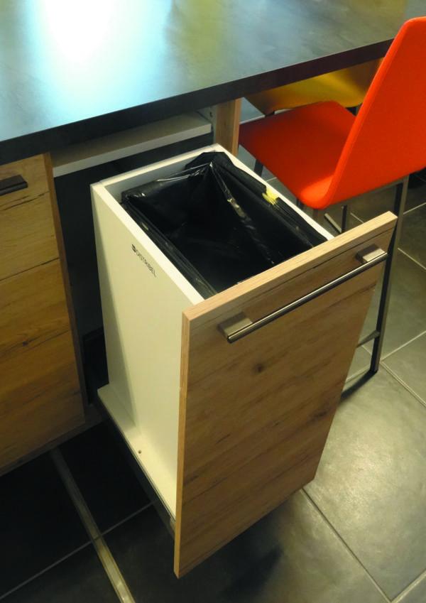 poubelle intégrée coulissante1 bac 30 Litres