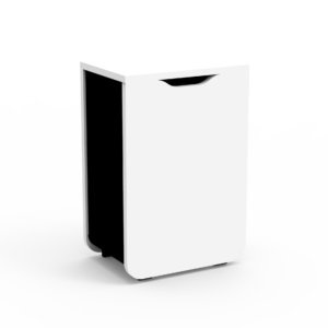 meuble poubelle blanc