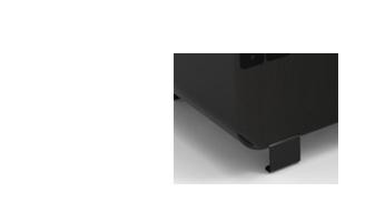 Forme de la pièce centrale en U et en métal ou en bois.