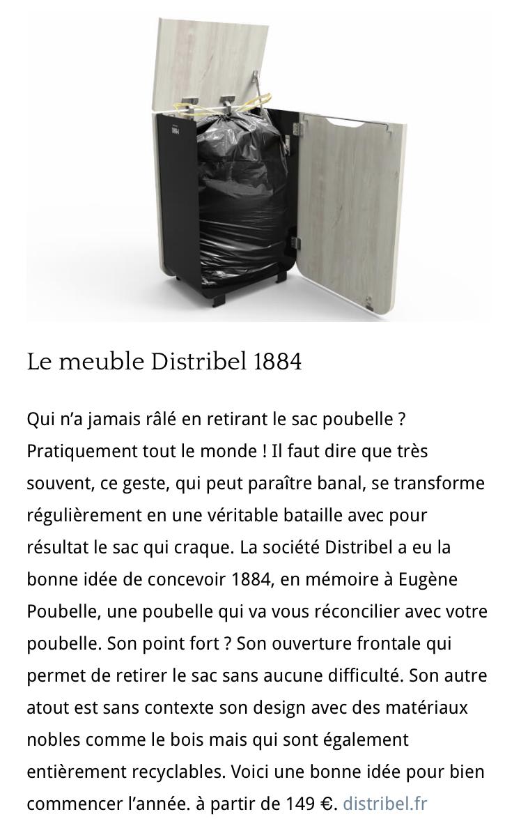 La poubelle Distribel dans la Presse