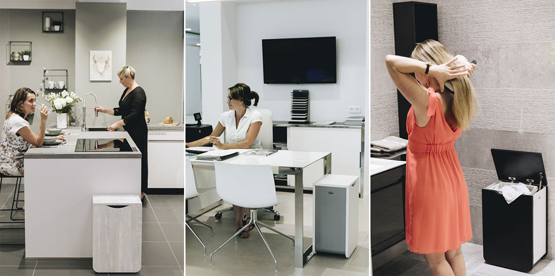 Poubelle ergonomique et design
